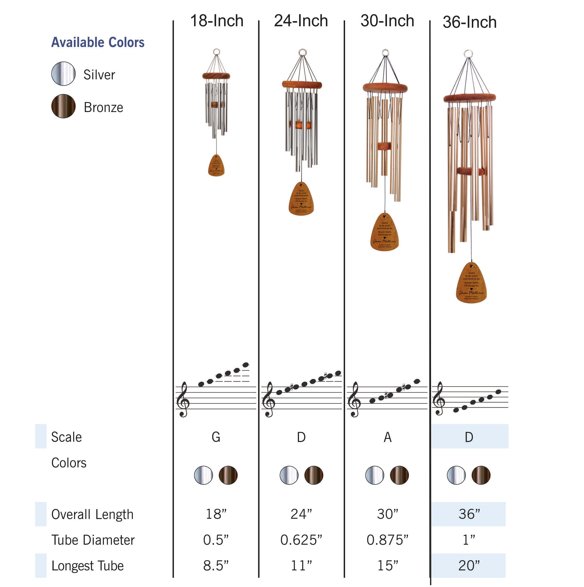 """Amazing Grace 33/"""" Memorial Wind Chime"""