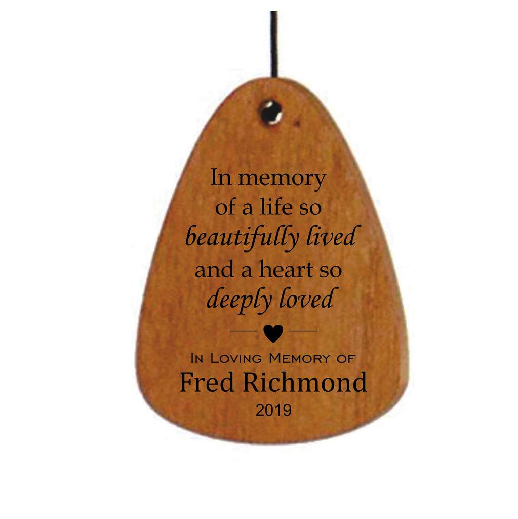 18-Inch Memorial Wind Chime-Bronze, In memory of a life so beautifully lived, Sympathy Gift, Bereavement gift, Personalized Wind Chime