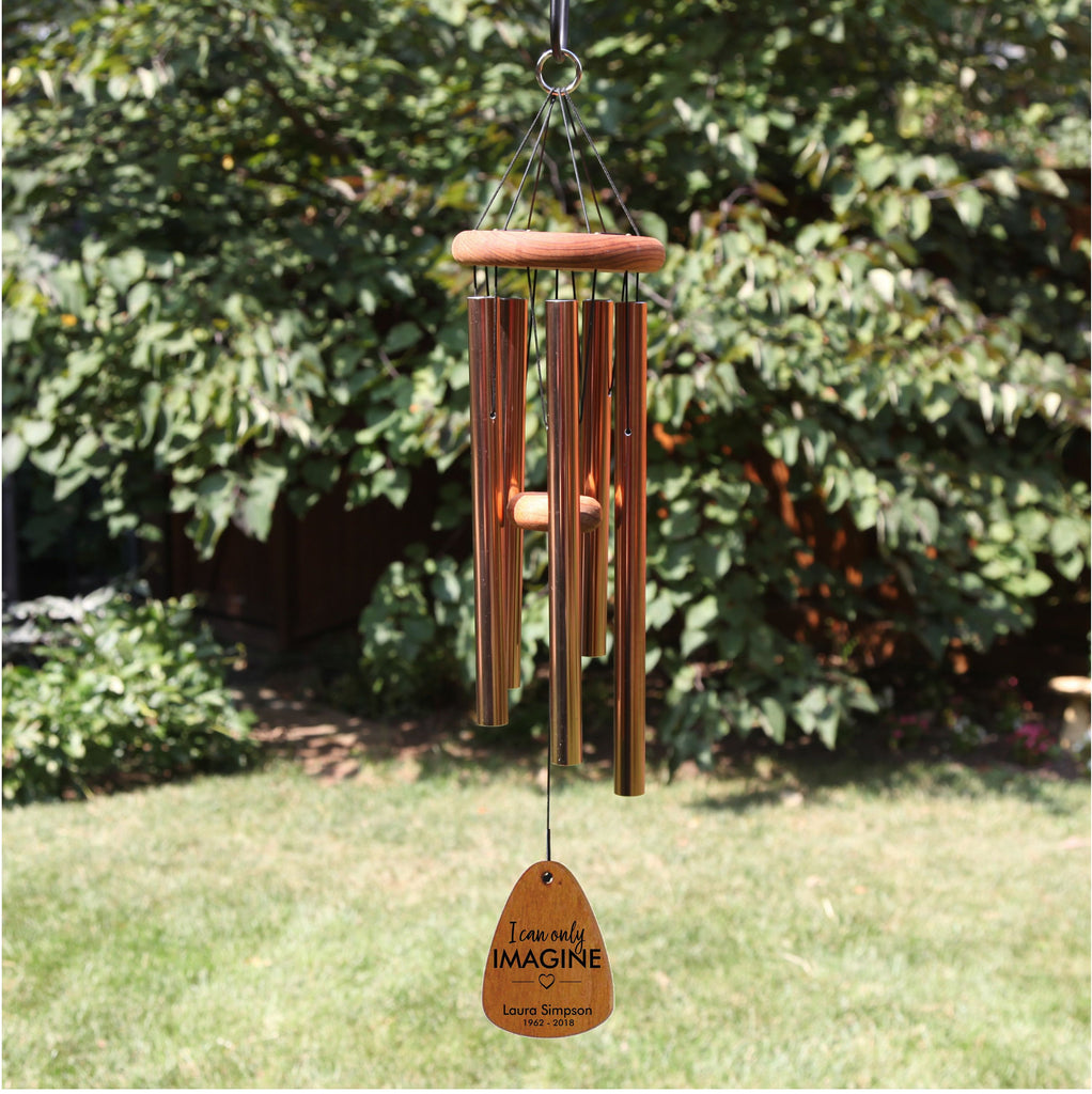 18-Inch Memorial Wind Chime-Bronze, I Can Only Imagine, Memorial Gift, Bereavement gift, Sympathy, Personalized Wind Chime,  Remembrance