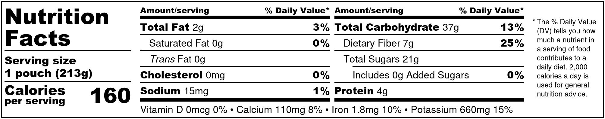 Frozen Garden Berry-Nana-Rama Nutrition Facts