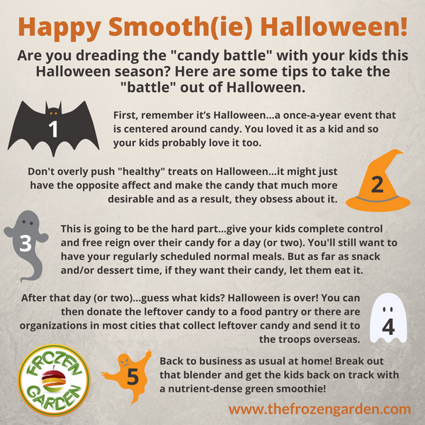 how to take the candy battle out of halloween infographic
