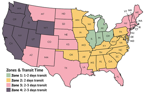 Frozen Garden Shipping Zones & Transit Time