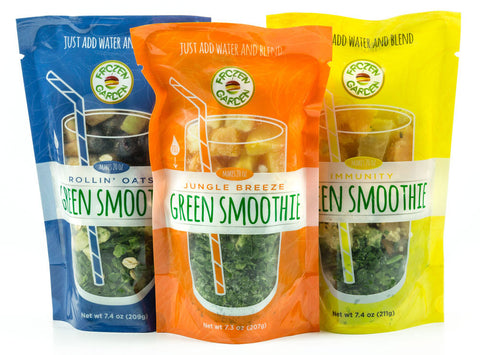 Frozen Garden green smoothie pouches