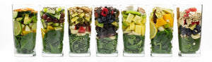 Green Smoothie Ingredients In Glass All Flavors