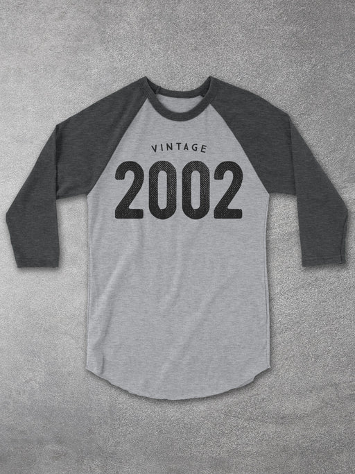 Birthday Shirts-Vintage 2002 Baseball Tee