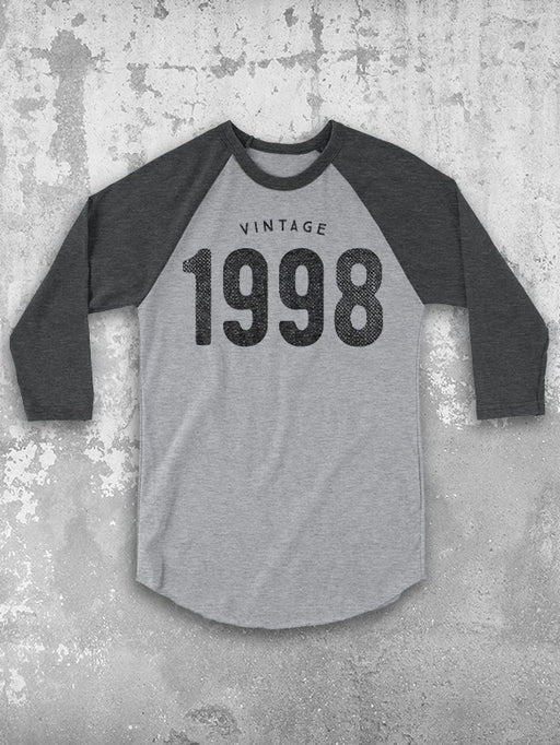 21st Birthday Vintage 1998 Baseball Tee