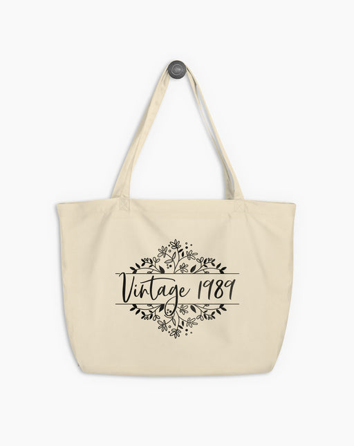 30th Birthday Large Organic Tote Bag