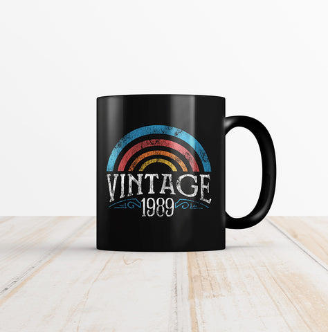 30th Birthday Vintage Rainbow Coffee Mug