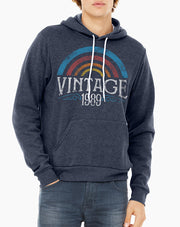 30th Birthday Vintage Rainbow & Old School Hoodie