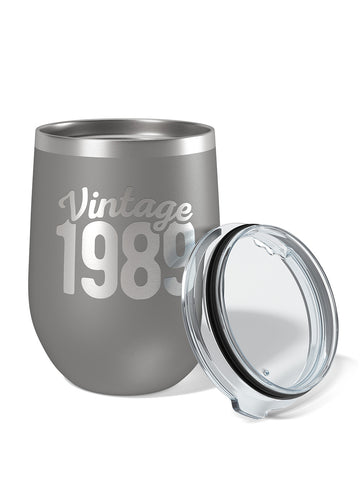 Personalized Vintage Year Birthday Wine Tumbler