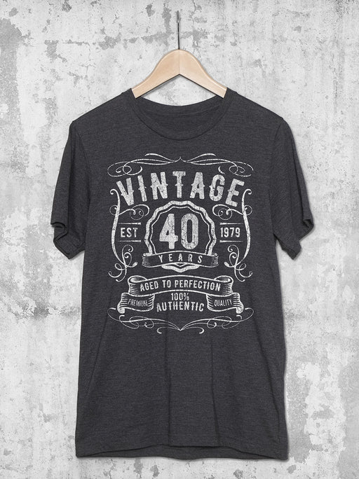 40th Birthday Shirt - Vintage 40 Years
