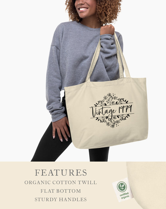 40th Birthday Large Organic Tote Bag