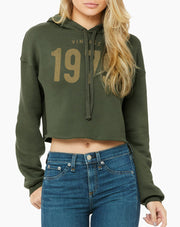 Custom Birthday Women's Vintage Cropped Hoodie