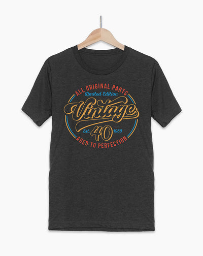 40th Birthday Shirt - Vintage 40