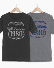 40th Birthday T-Shirt - Old School 1980
