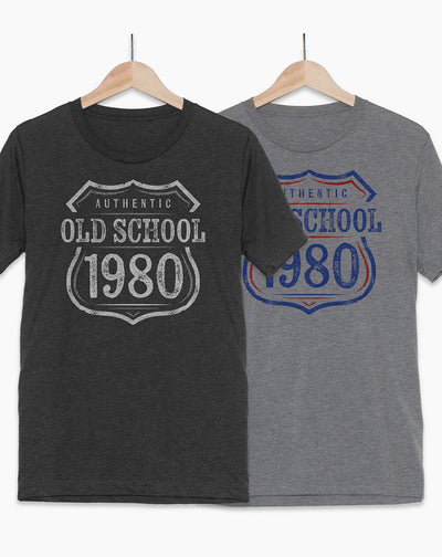 40th Birthday Shirt | Old School 1980