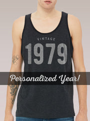 Custom Vintage Birthday Tank Top