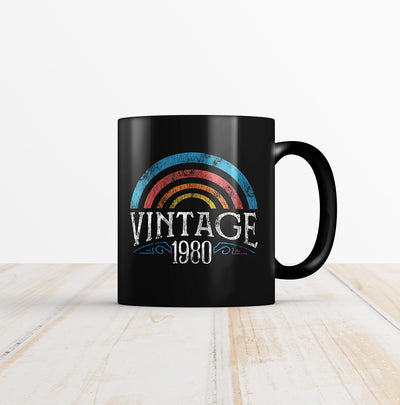 40th Birthday Coffee Mug - Vintage Rainbow