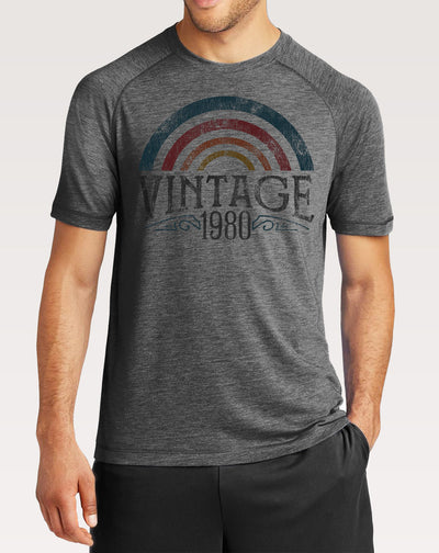 40th Birthday Shirt | Men's Vintage Rainbow Tee