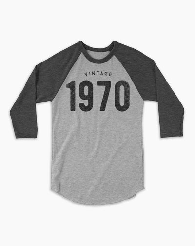 50th Birthday Shirt | Vintage Baseball Tee