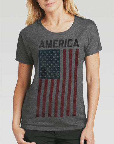 Women's America Vintage Flag Shirt