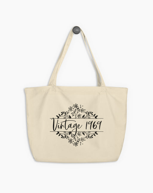 50th Birthday Large Organic Tote Bag
