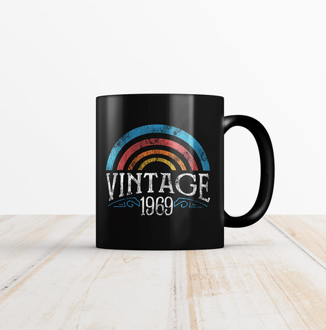 50th Birthday Vintage Rainbow Coffee Mug
