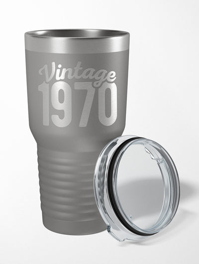 50th Birthday Gift | Vintage 1970 Drink Tumbler
