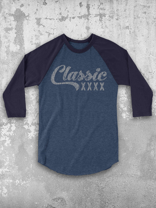 Personalized Birthday Classic Year Baseball Tee
