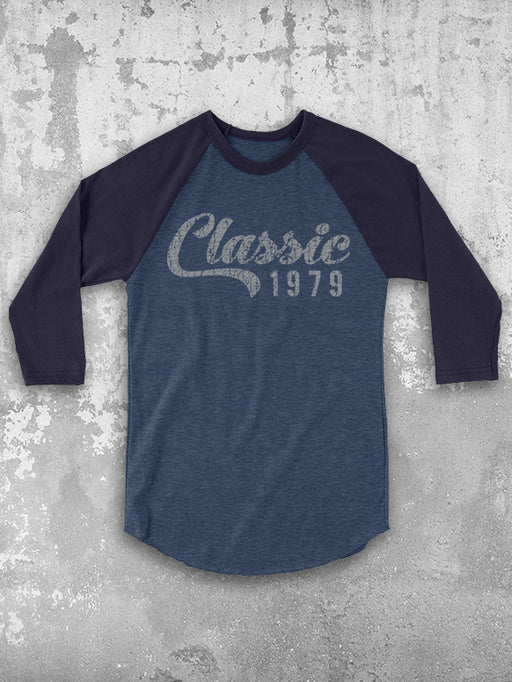 40th Birthday Baseball Tee - Personalized Classic Year