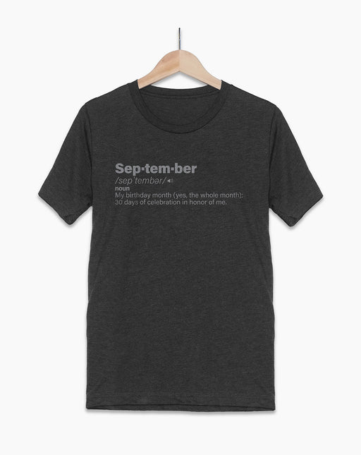 September Birthday Shirt