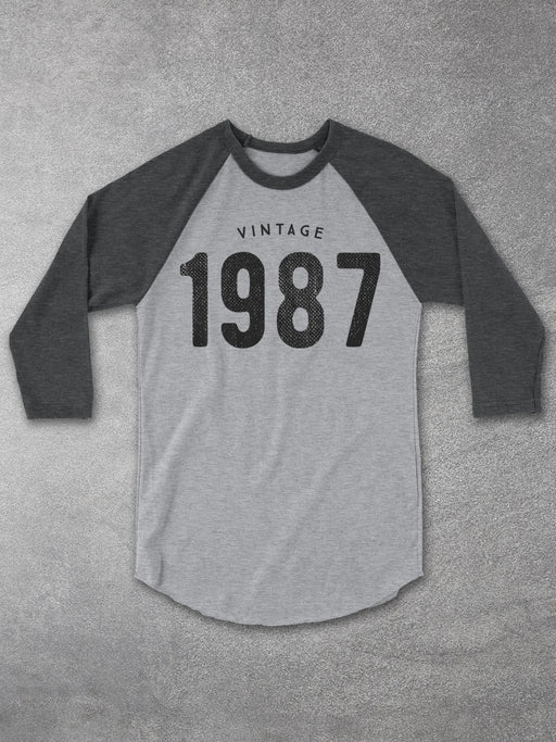 Birthday Shirts-Vintage 1987 Baseball Tee