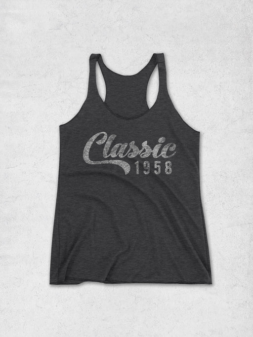Birthday Shirts Womens Classic 1958 Tank Top