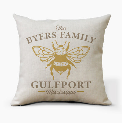Personalized Honey Bee Pillow