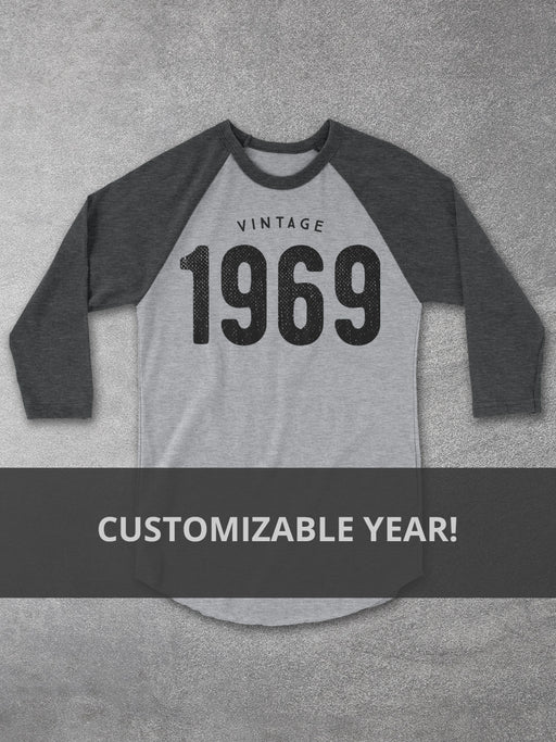 Personalized Year Birthday Baseball Tee - Hello Floyd Graphic Tees
