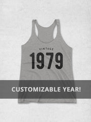 Personalized Year Birthday Women's Tank Top | Vintage