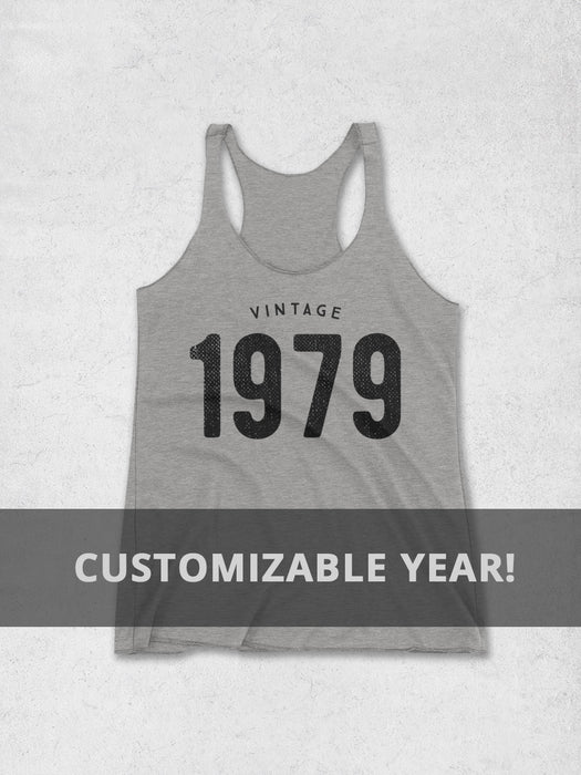 9584171ef08de9 Birthday Shirts-Personalized Year Birthday Women s Tank Top