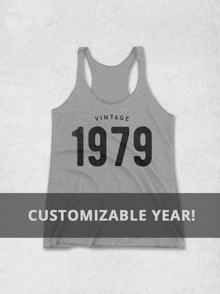 Custom Vintage Year Women's Tank Top - Hello Floyd Graphic Tees