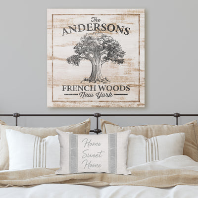 Custom Oak Tree Canvas Wall Art