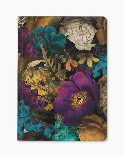 Botanical Flowers Paperback Notebook