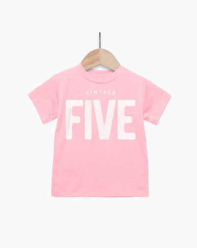 Vintage Five Year Old Girl - 5th Birthday Shirt
