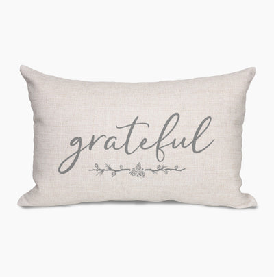 Grateful Farmhouse Lumbar Throw Pillow