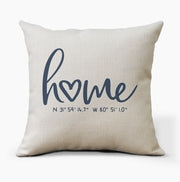 Custom Coordinates Home Pillow
