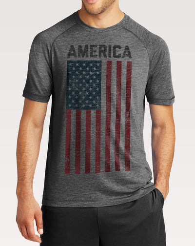 Men's America Vintage Flag Shirt