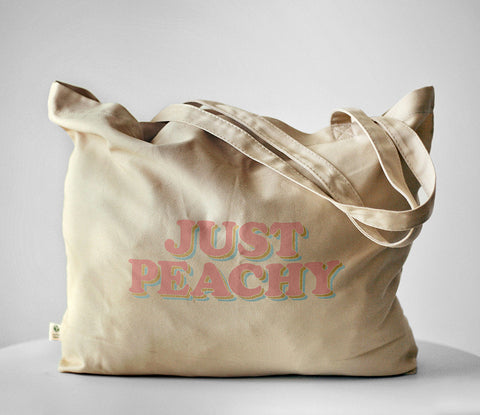 Just Peachy Organic Tote Bag