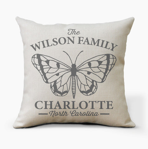 Personalized Butterfly Pillow