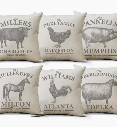 Personalized Pillow | Farmhouse