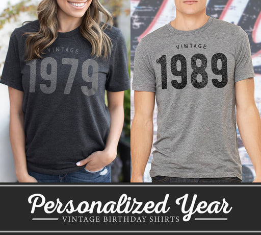 Personalized Vintage Birthday Shirt