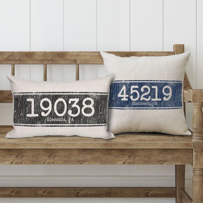 Personalized Zip Code Pillows