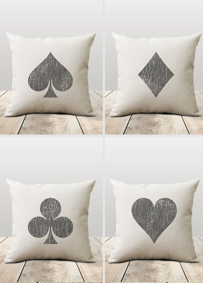 Poker Pillows - Poker Room Decor